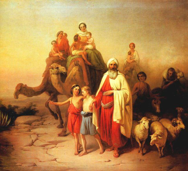 Molnár_Ábrahám_kiköltözése_1850